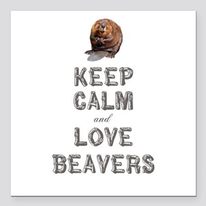 "Wood Badge Beaver Square Car Magnet 3"" x 3"""