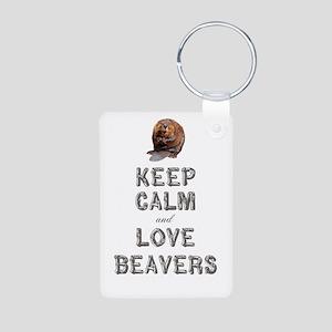 Wood Badge Beaver Aluminum Photo Keychain