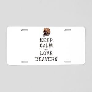 Wood Badge Beaver Aluminum License Plate