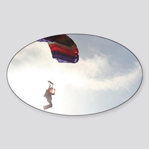 Come Fly-Skydiver1 Sticker (Oval)