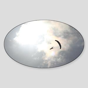 Skydiver4 Sticker (Oval)