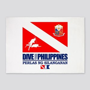 Dive The Philippines 5'x7'Area Rug