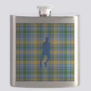 Runners Plaid male blue Flask