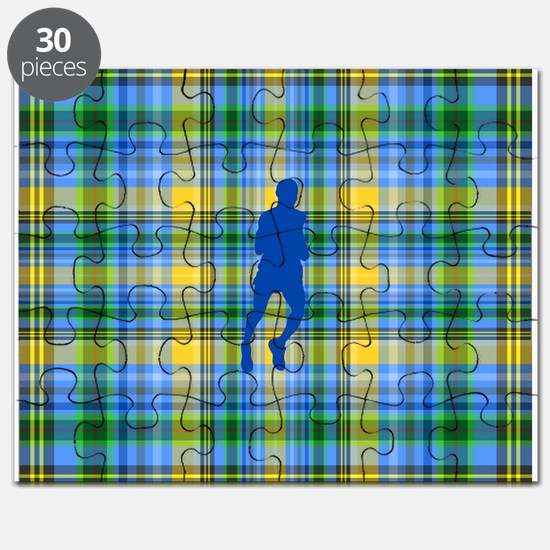 Runners Plaid male blue Puzzle