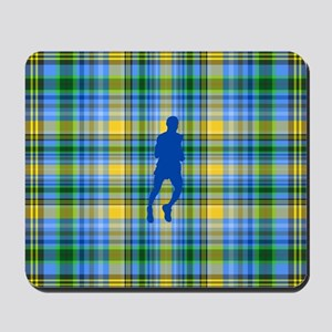 Runners Plaid male blue Mousepad