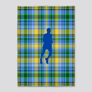 Runners Plaid male blue 5'x7'Area Rug