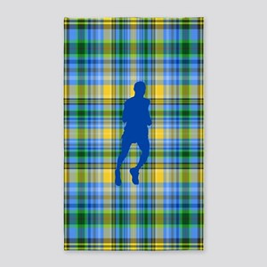 Runners Plaid male blue 3'x5' Area Rug