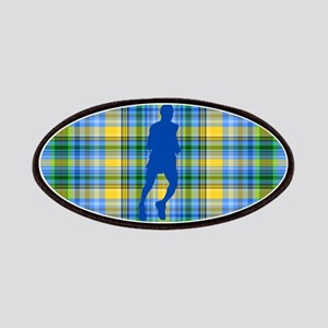 Runners Plaid male blue Patches