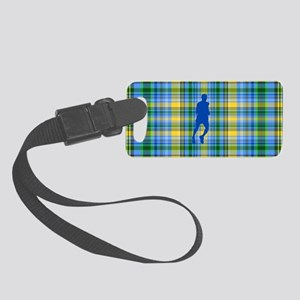 Runners Plaid male blue Small Luggage Tag