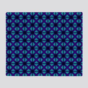 Blue Cross Hatch Throw Blanket