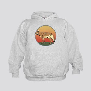 Coyote Sunset Kids Hoodie