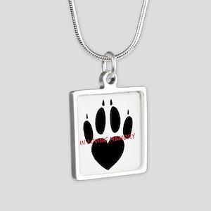 in loving memory dog black Necklaces