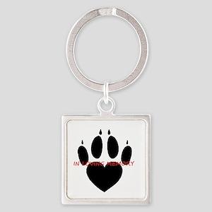 in loving memory dog black Keychains