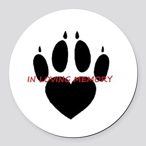 in loving memory dog black Round Car Magnet