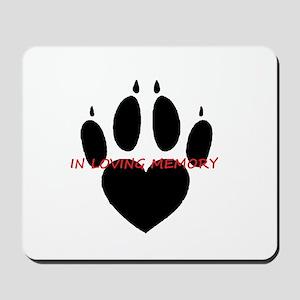 in loving memory dog black Mousepad
