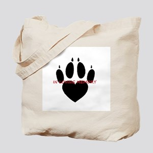 in loving memory dog black Tote Bag