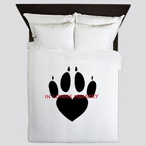 in loving memory dog black Queen Duvet