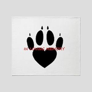 in loving memory dog black Throw Blanket