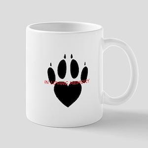 in loving memory dog black Mugs