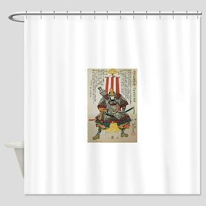 Samurai Oda Nobutaka Shower Curtain