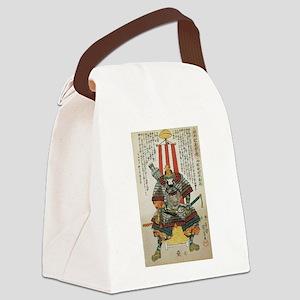 Samurai Oda Nobutaka Canvas Lunch Bag