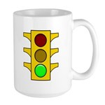Right-hand Red Mood Signal Large Mug