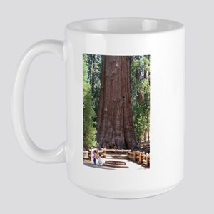 General Sherman Sequoia with Girls Large Mug