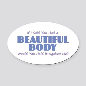 Beautiful Body Oval Car Magnet
