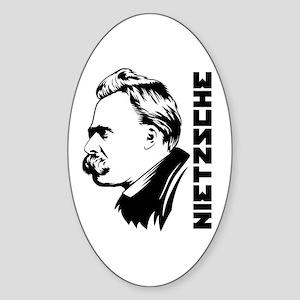Strk3 Nietzsche Oval Sticker