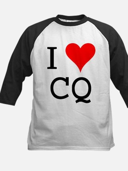 I Love CQ Kids Baseball Jersey