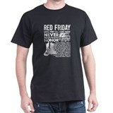 Red friday Mens Classic Dark T-Shirts