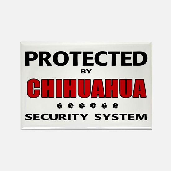 Chihuahua Security Rectangle Magnet