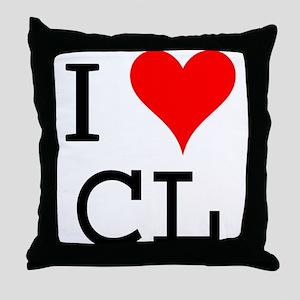 I Love CL Throw Pillow