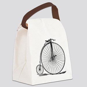 Vintage Penny Farthing Bicycle Canvas Lunch Bag