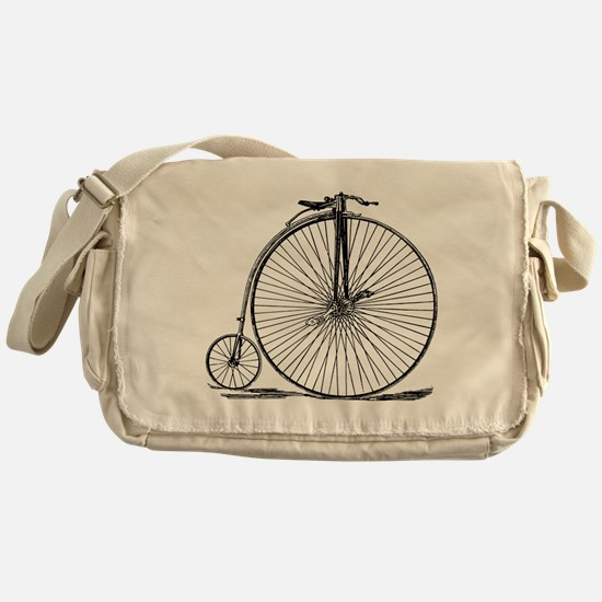 Vintage Penny Farthing Bicycle Messenger Bag