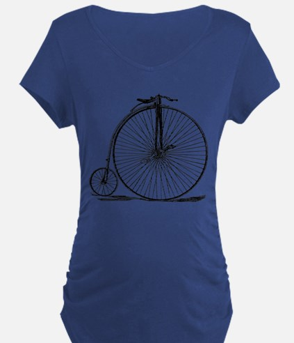 Vintage Penny Farthing Bicycle Maternity T-Shirt