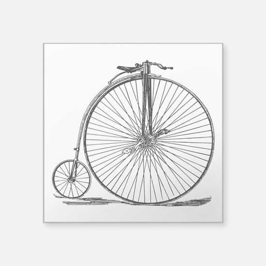 Vintage Penny Farthing Bicycle Sticker