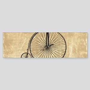 Vintage Penny Farthing Bicycle Bumper Sticker
