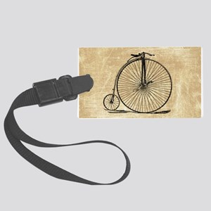 Vintage Penny Farthing Bicycle Luggage Tag