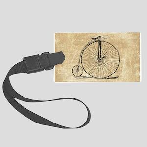 Vintage Penny Farthing Bicycle Luggage Tag