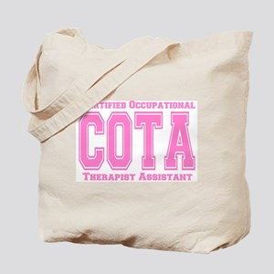 Pink Collegiate COTA Tote Bag