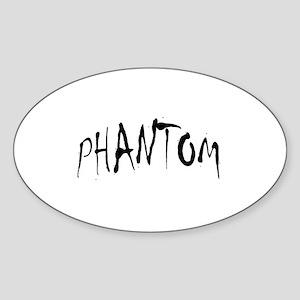 Phantom Halloween Oval Sticker