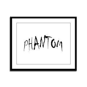 Phantom Halloween Framed Panel Print
