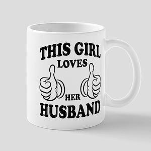 This Gir Loves Her Husband Mugs
