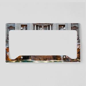 Trevi Fountain License Plate Holder