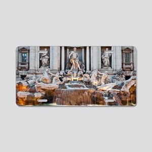 Trevi Fountain Aluminum License Plate