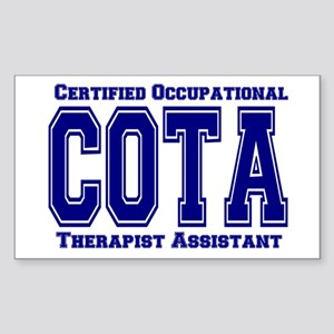 Blue Collegiate COTA Rectangle Sticker