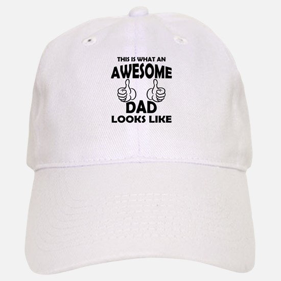 Awesome Dad Looks Like Baseball Baseball Baseball Cap