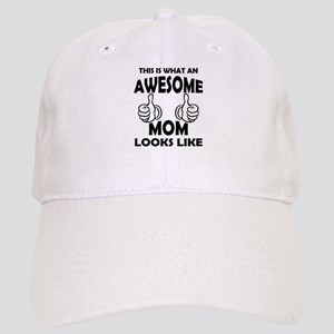 Awesome Mom Looks Like Baseball Cap