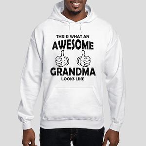 Awesome Grandma Looks Like Hoodie